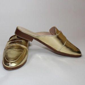 Catherine Malandrino Gold Mules
